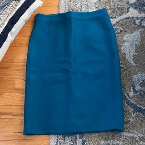 J crew no 2 pencil skirt in lovely teal wool!